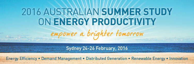 2016 Summer Study on Energy Productivity